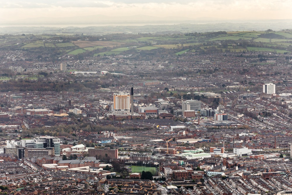 Belfast City Hospital from Cave Hill